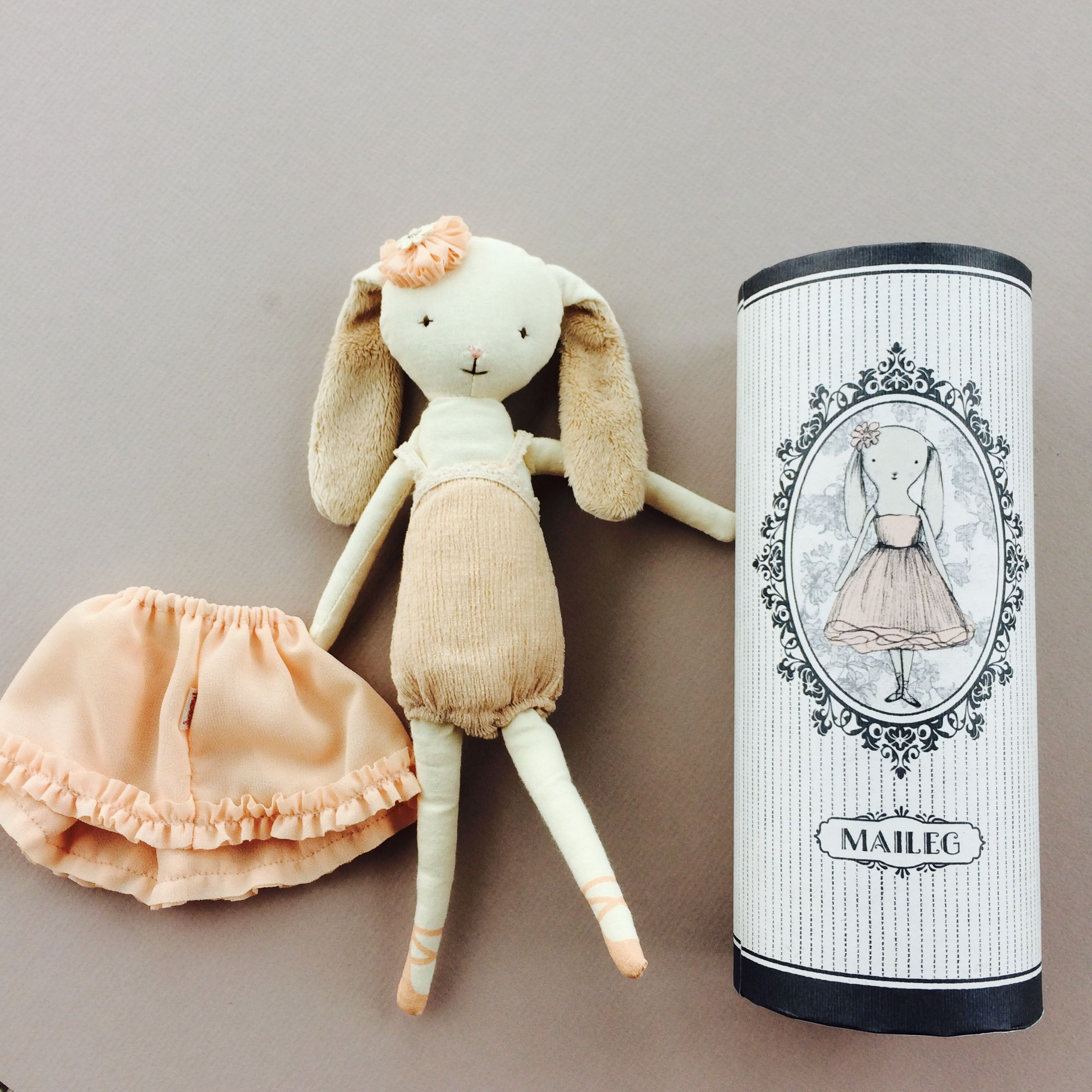 Dancing Ballerina Bunny in a Tube | Dolls and Soft Toys