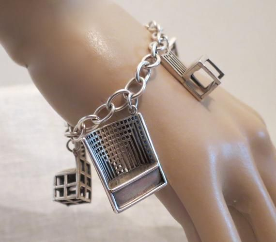 33f636e81 Charles Rennie Mackintosh Chairs Sterling Silver Charm Bracelet ~ Museum of  Modern Art 7.25