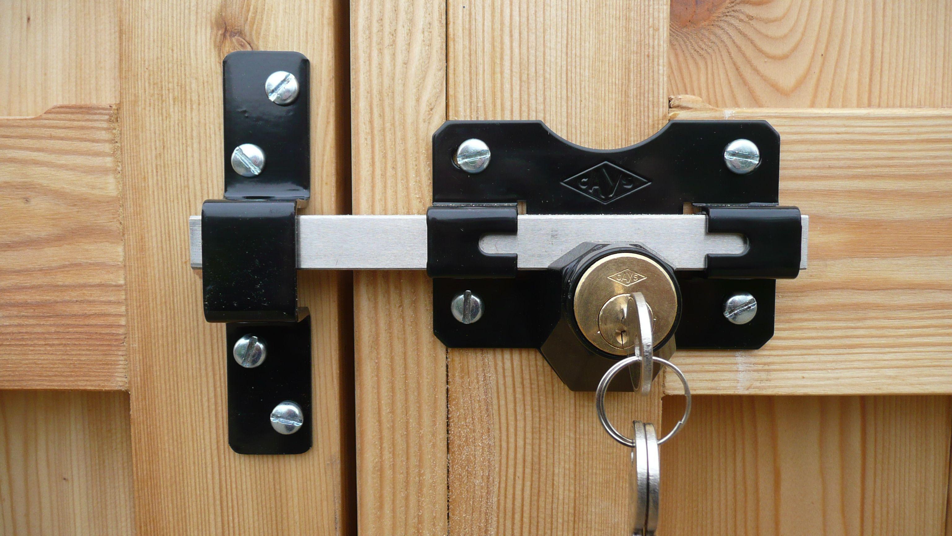 Garden Gate Security Locks In 2020 Gate Locks Wooden Garden