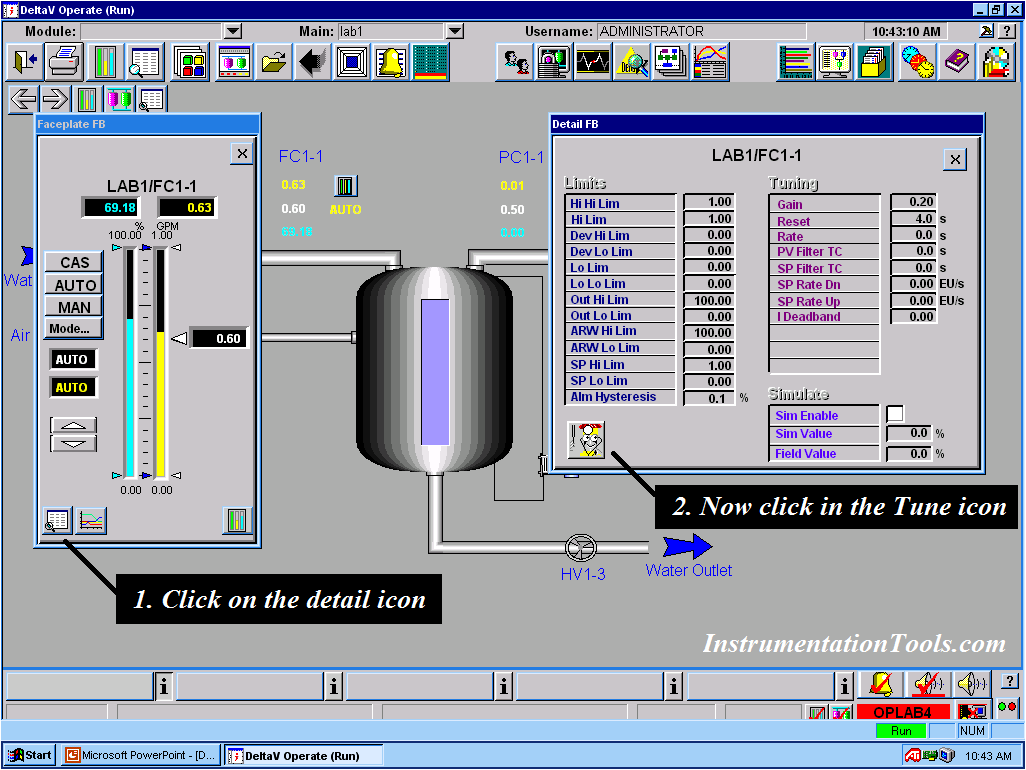 How to Tune a Loop in DeltaV System Piping and