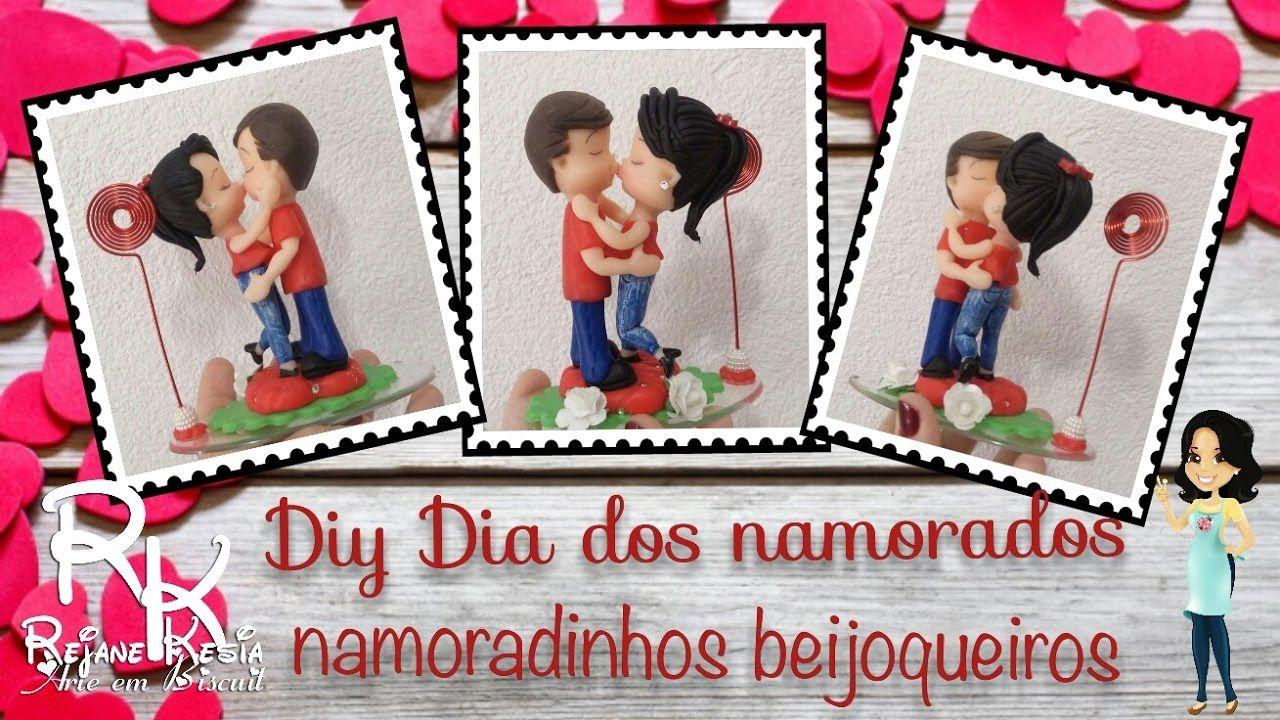 casal beijoqueiro - Projeto dia dos namorados - biscuit