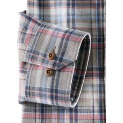 Linen shirts for men -  Walbusch Men's Shirt Leisure Travel Linen Comfort Fit Checked Check Olive / Red WalbuschWalbus - #linen #men #shirts #travelmugdiy