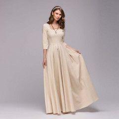 dfcbe8077 Společenské dámské šaty Fessiona - krémově bílé - Pošta Zdarma ...