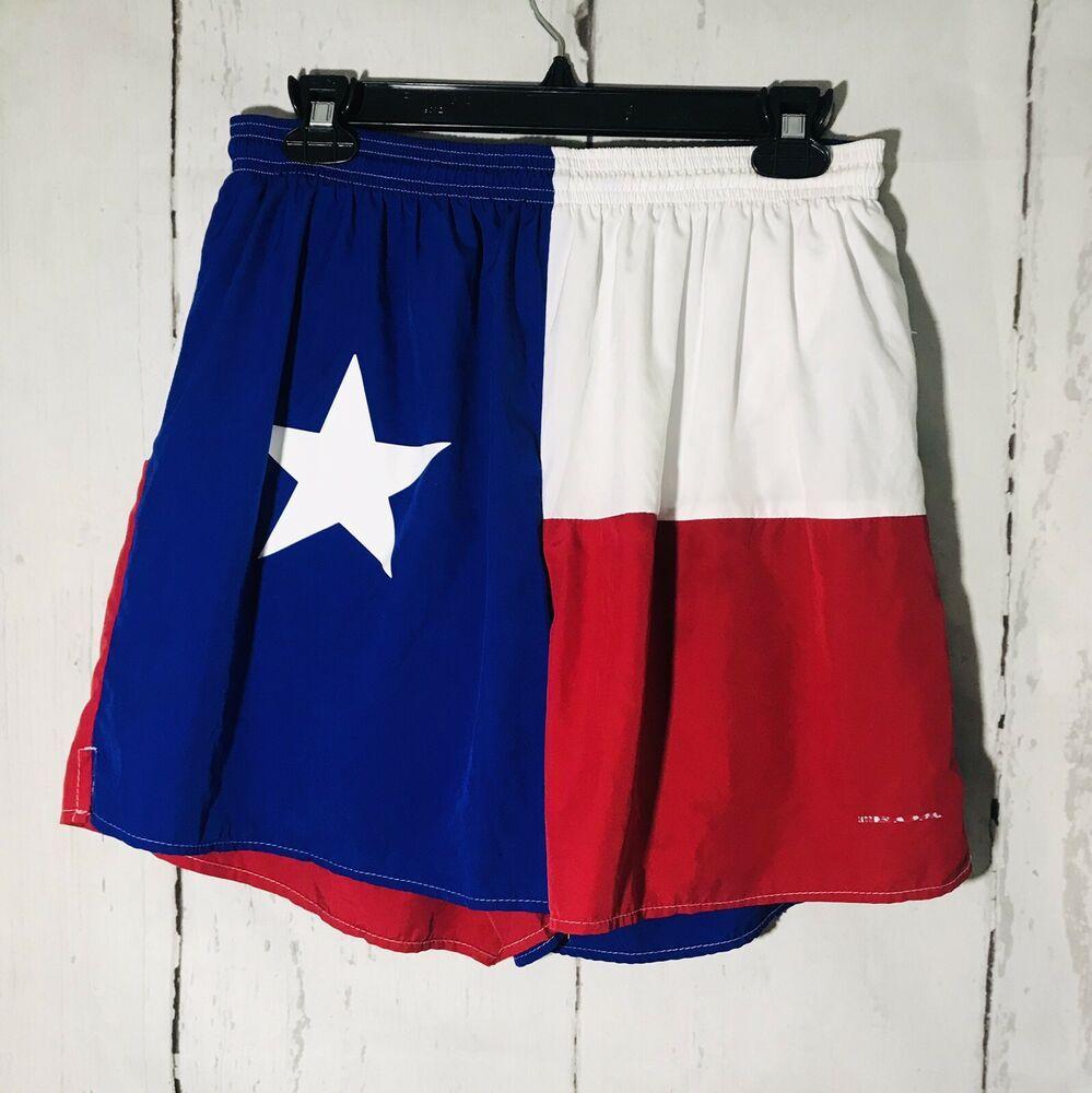 Boa Texas Flag Running Shorts Men S Large Ebay Split Running Shorts Running Shorts Running Shorts Men