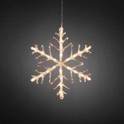 Konstsmide 40 cm LED-lumihiutale - Hong Kong tavaratalot Kirkas akryylinen lumihiutale jossa on 24 lämpimän valkoista LED-poltinta. 16,99€