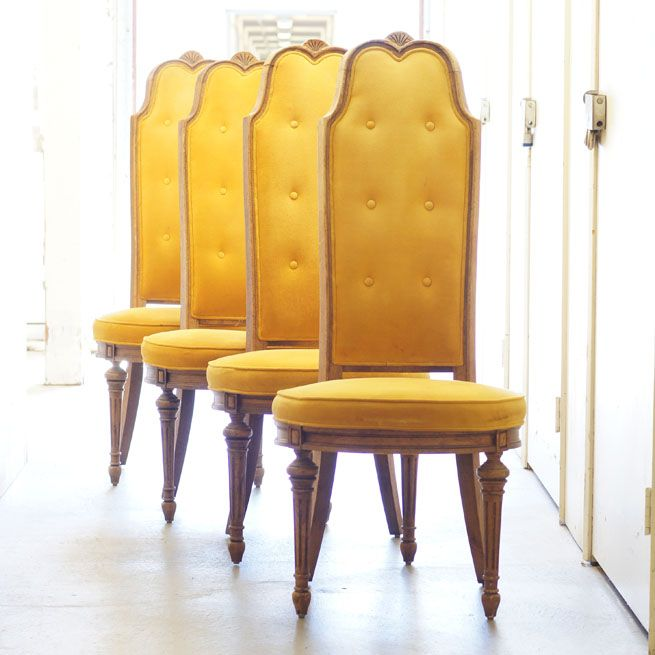 Vintage Highback Velvet Dining Chairs Dining Chairs High Back Dining Chairs Dining Chairs For Sale