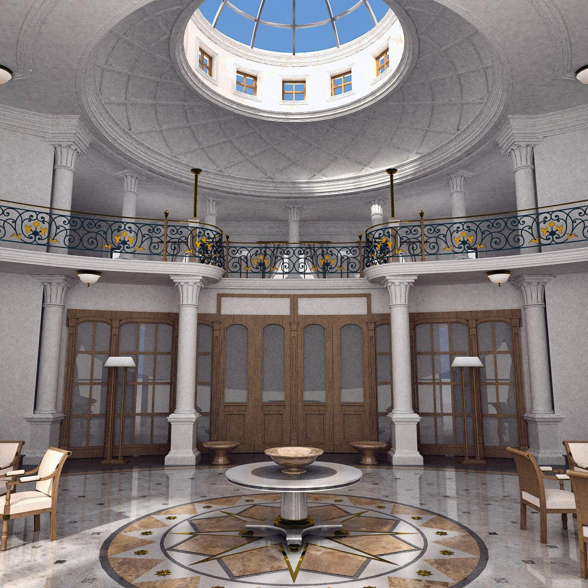 3D Classic Interior Model   3D Model
