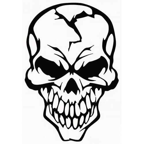 Skull Laptop Car Truck Vinyl Decal Window Sticker PV Vinyl - Skull decals for trucks