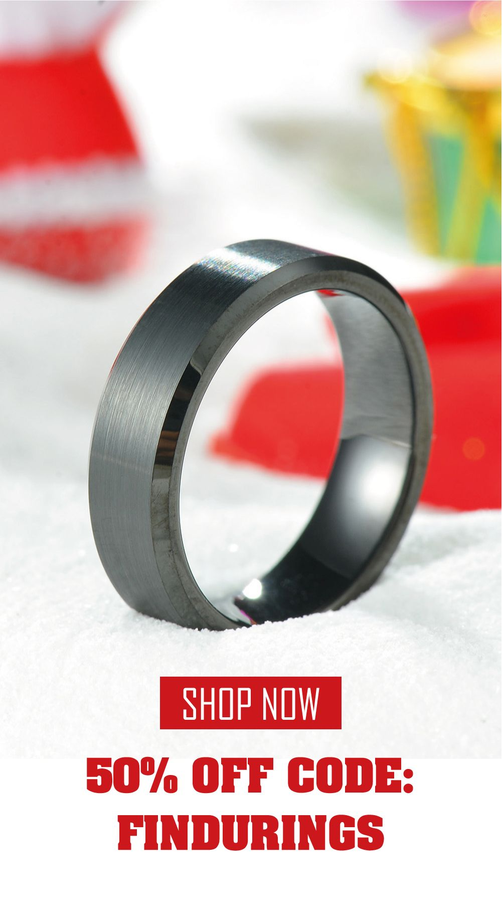 Black Tungsten Wedding Bands with Matte Brushed and