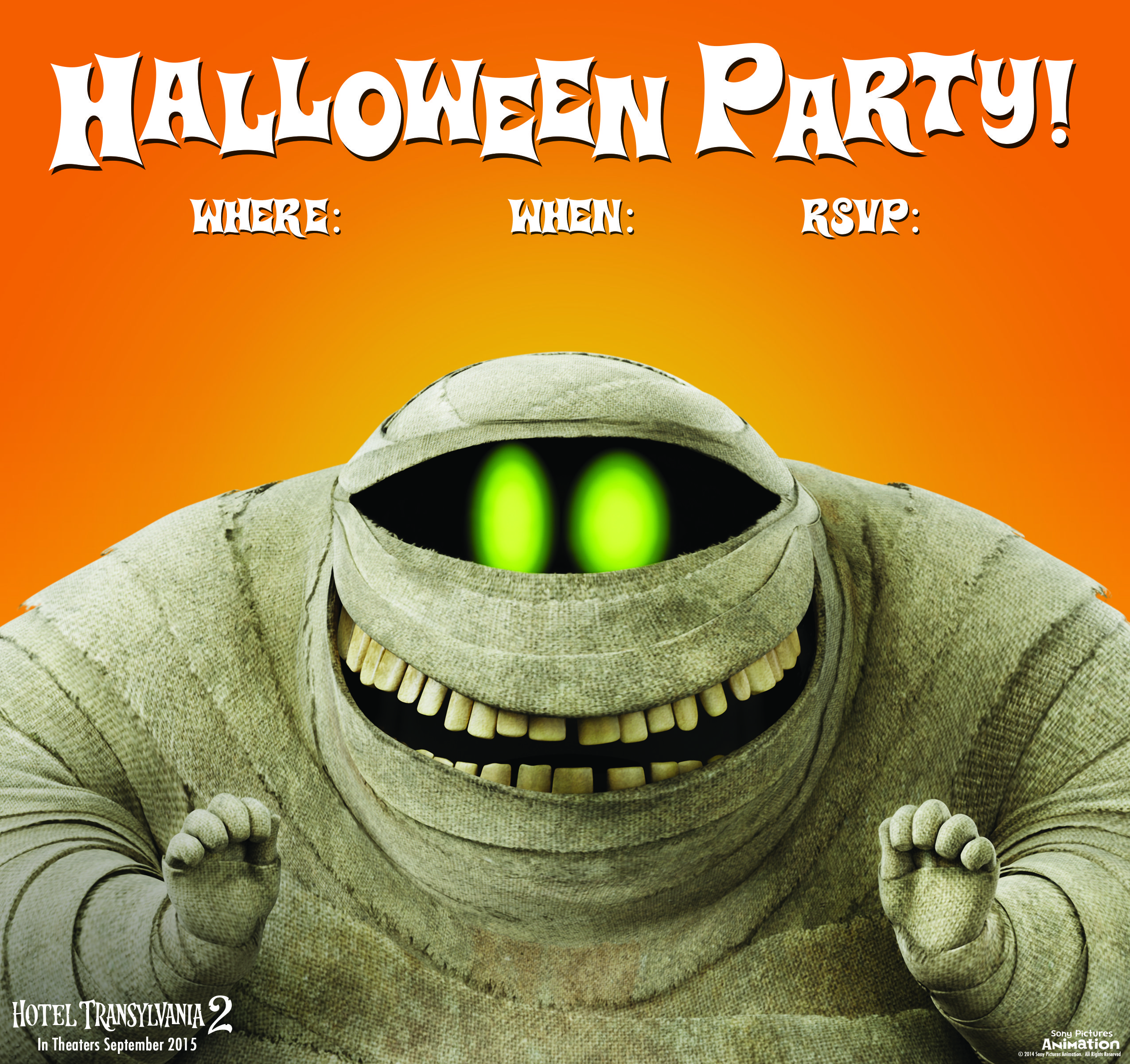 Murray Mummy Halloween Invitations