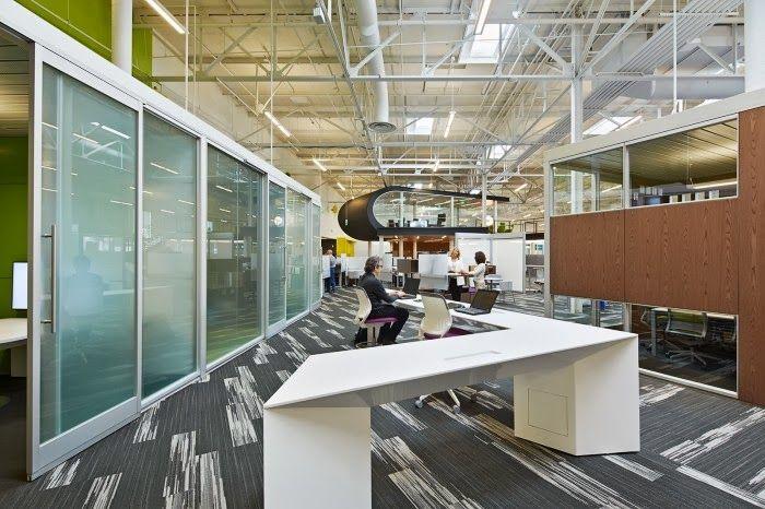 De open werkruimte waar je alleen aan een tafel kan werken - One Workplace #gaafkantoor