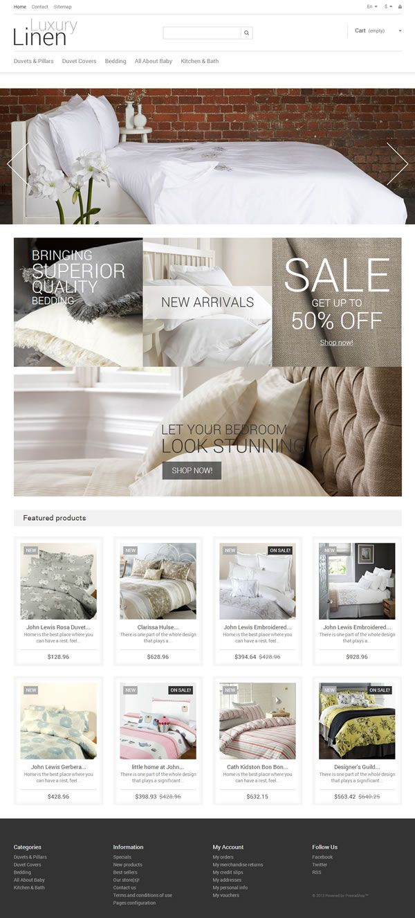 Prestashop template #furniture #home #ecommerce #responsive