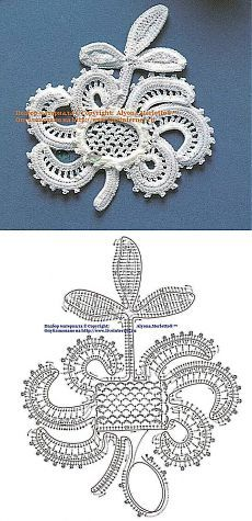 ирландское кружево Irische Häkelei Irish Crochet Pinterest