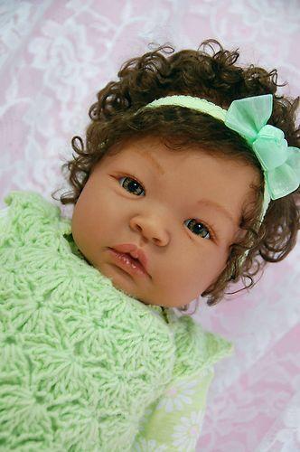 Reborn Ethnic Biracial Girl Baby Doll Shyann Ale Sweet