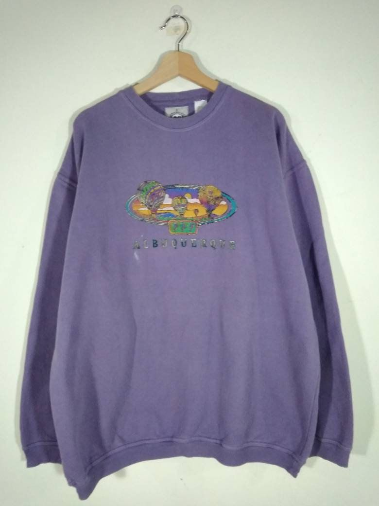 American Youth Fleece Crewneck Sweater Hot Air Balloon