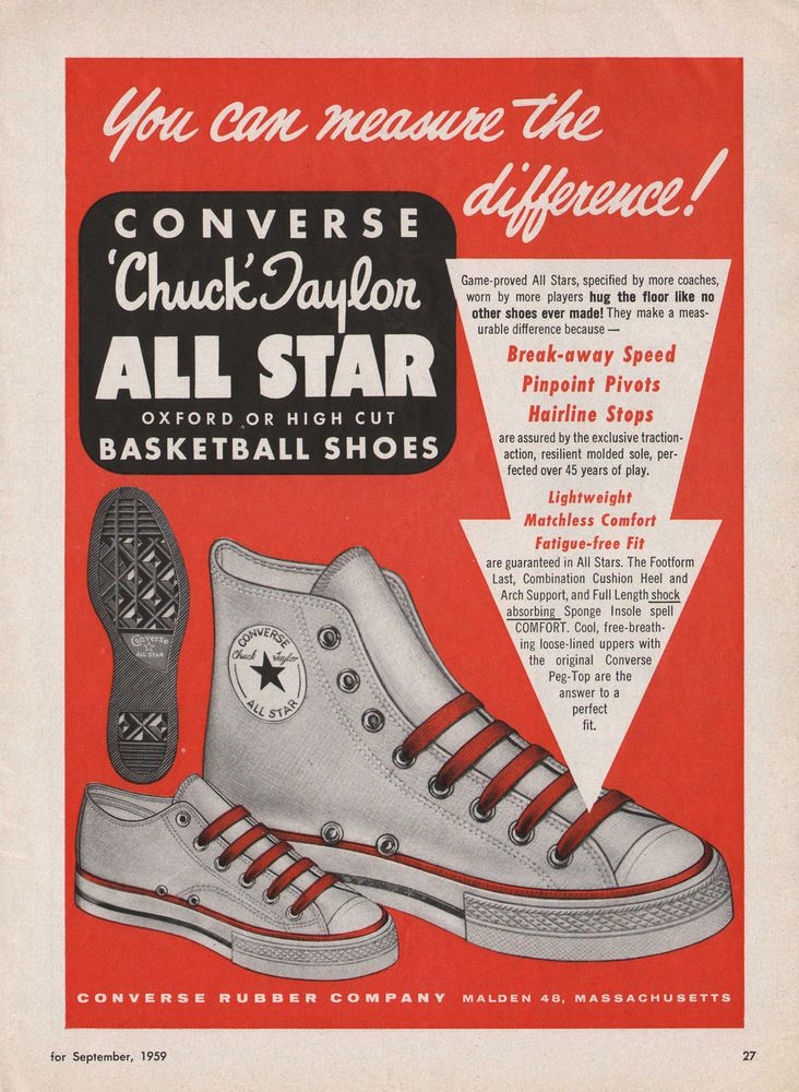 Converse all stars advertising..never goes out of style