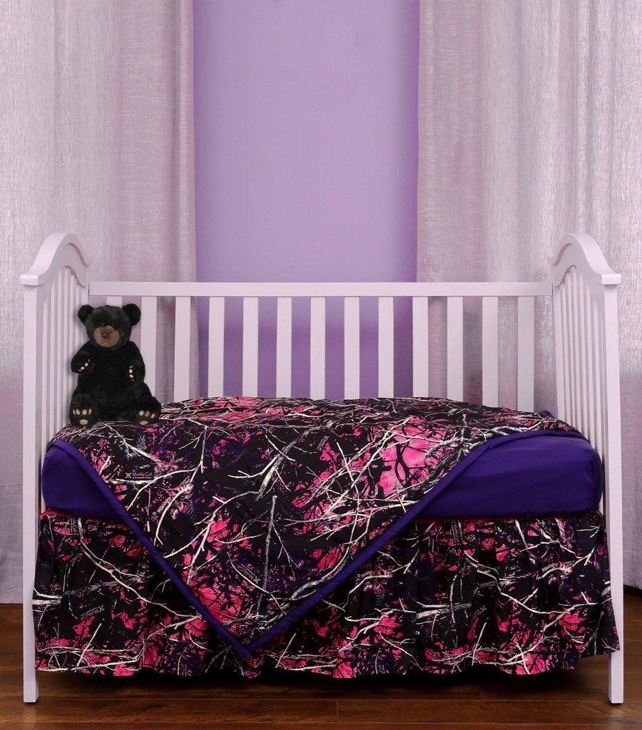 Muddy Girl 3 piece crib set Camo nursery, Camo baby