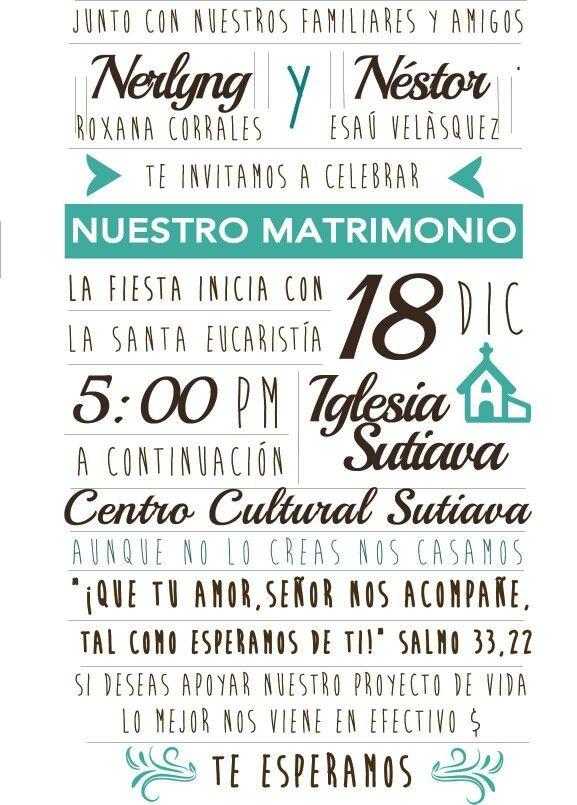 Invitación Boda Velásquez Corrales