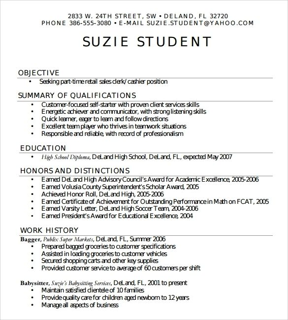 Beautiful High School Resume Template For College Pictures ...