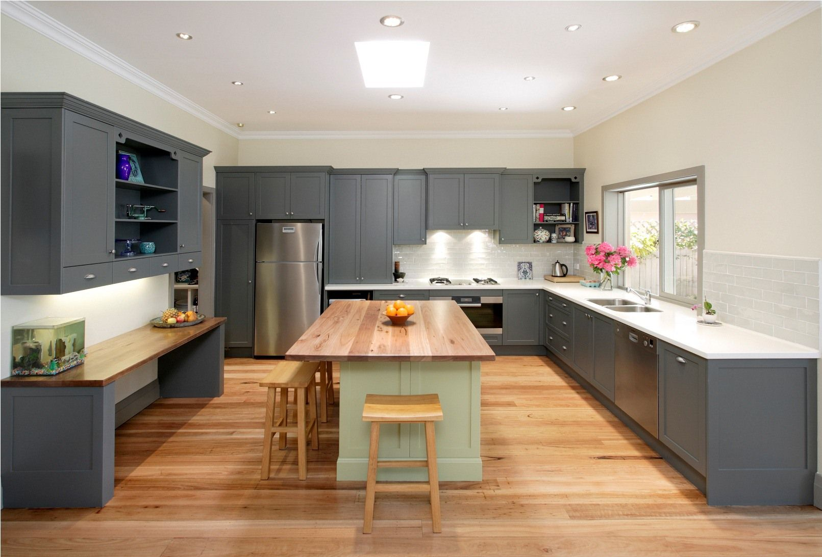 Coordinating Kitchen Flooring And Cabinets Home Design And Plans Pictures Modern Grey Kitchen Contemporary Kitchen Design Contemporary Kitchen