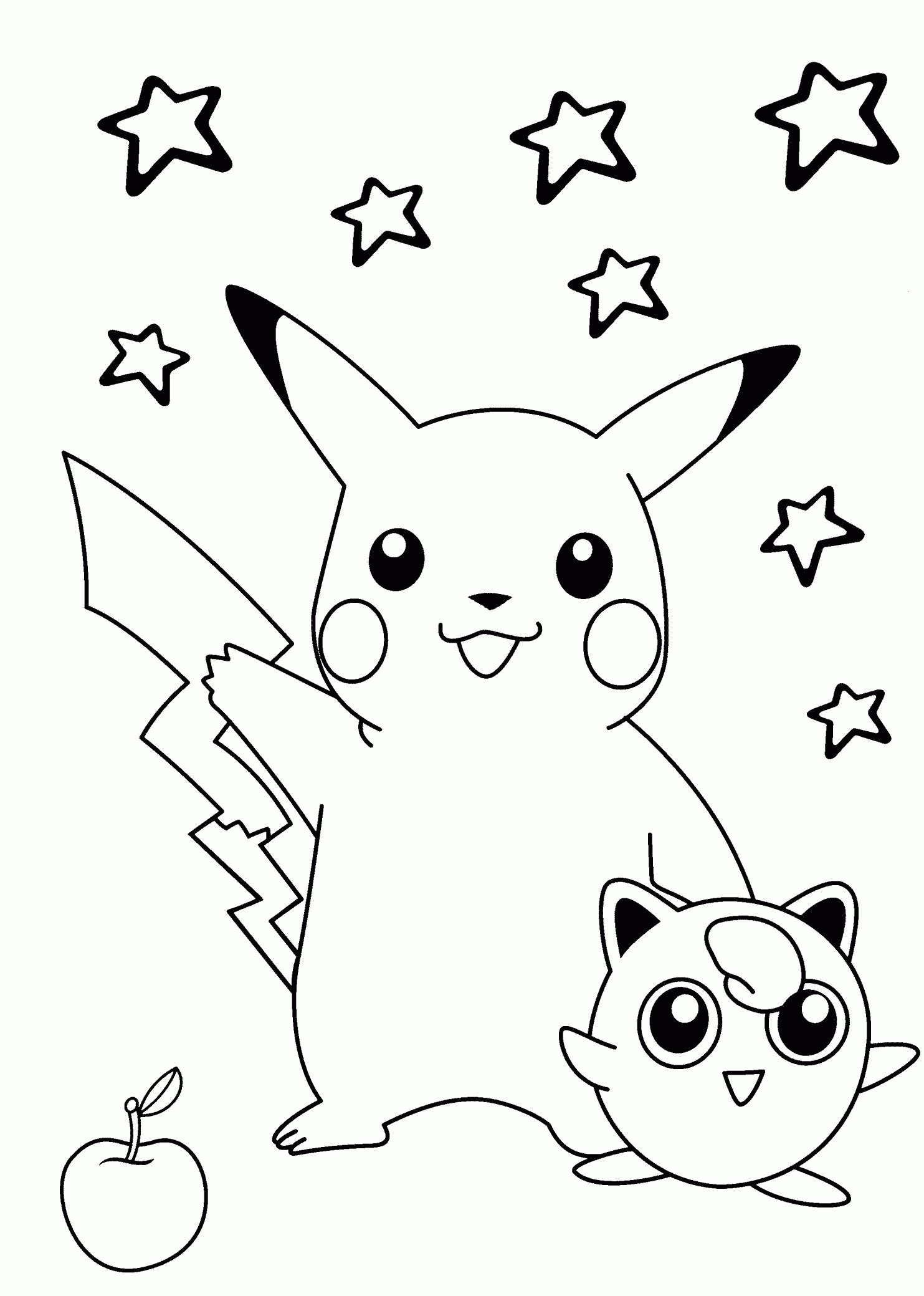 Pokemon Coloring Pages Printable Pikachu Coloring Page Pokemon Coloring Pages Animal Coloring Pages