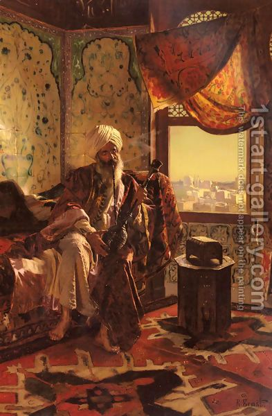Rudolph Ernst: Smoking The Hookah @@@@.....http://www.pinterest.com/kevinmcl/orientalist-paintings/