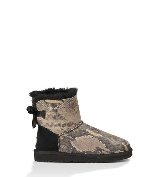 Mini Bailey Bow Snake Creativecouncil Black Boots Women Womens Uggs Ugg Boots