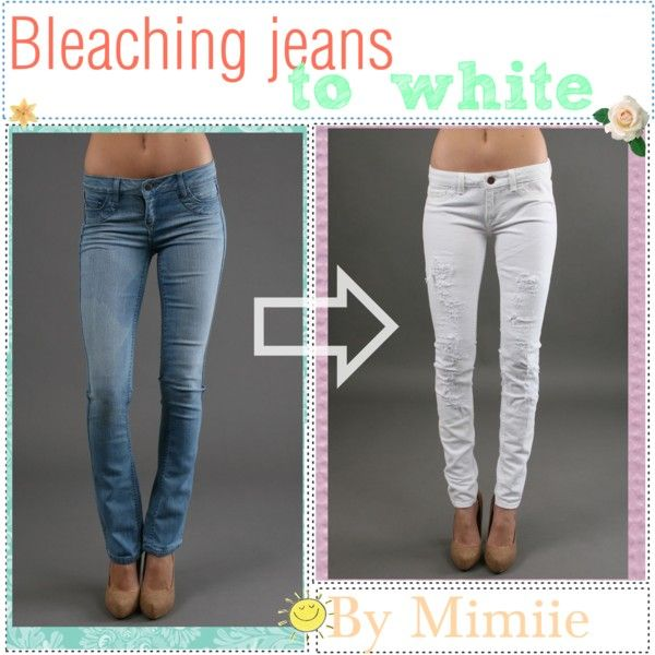 Bleaching jeans to white. ♥ | DIY SkinnY JeAns | Pinterest | DIY ...