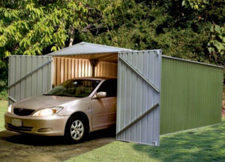 Metal Storage Shed 10 X 20 Garage Workshop Steel Utility Building Prefab Barn Abscosheds Prefab Barns Metal Storage Sheds Shed