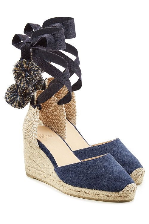Castañer Patterned Ankle Strap Wedges clearance huge surprise cheap best place jmHGzK1wHY