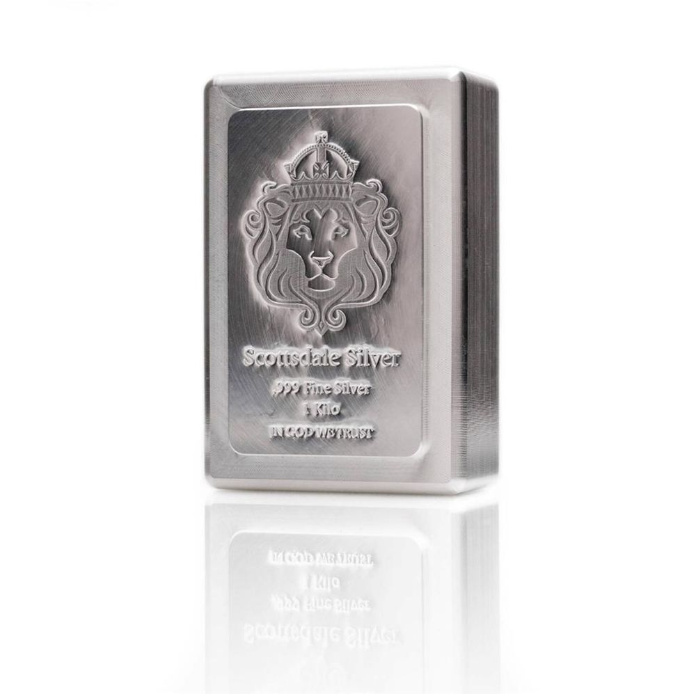 1 Kilo Scottsdale Stacker Silver Bar 1 Kg 999 Silver Bullion A131 Silver Bullion Silver Bars Gold Bullion