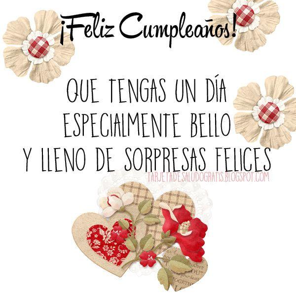 Postal De Feliz Cumpleaños Tarjeta Feliz Cumpleaños Prima Feliz Cumpleaños Amigo Especial Feliz Cumpleaños Tia