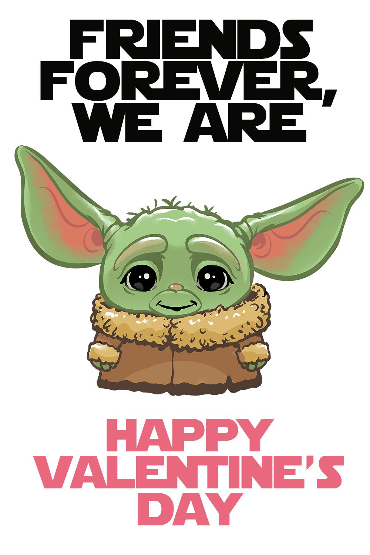 Free Baby Yoda Valentine S Day Printables Eat Drink And Save Money Yoda Valentine Cards Valentines Day Funny Fun Valentines Day Ideas