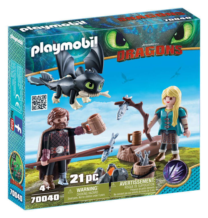 Playmobil How To Train Your Dragon Hiccup And Astrid With Baby Dragon How Train Your Dragon Baby Dragon How To Train Your Dragon