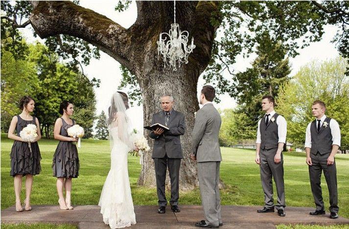 Elegant Outdoor Chandelier Wedding   Weddings On A Budget With Cheap Wedding Ideas, Cheap  Wedding Dresses