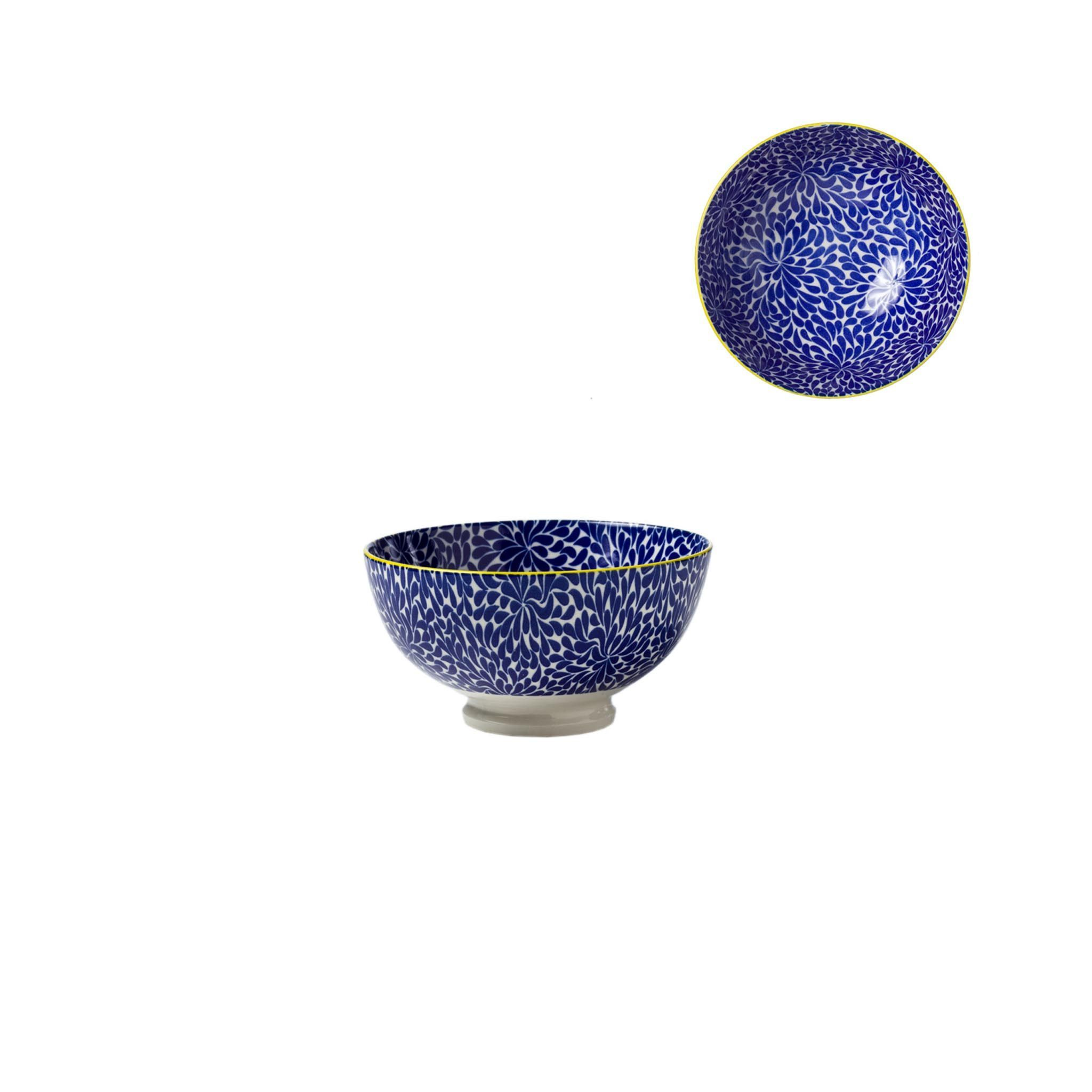 Kiri Porcelain Bowl - Blue Iris - Small