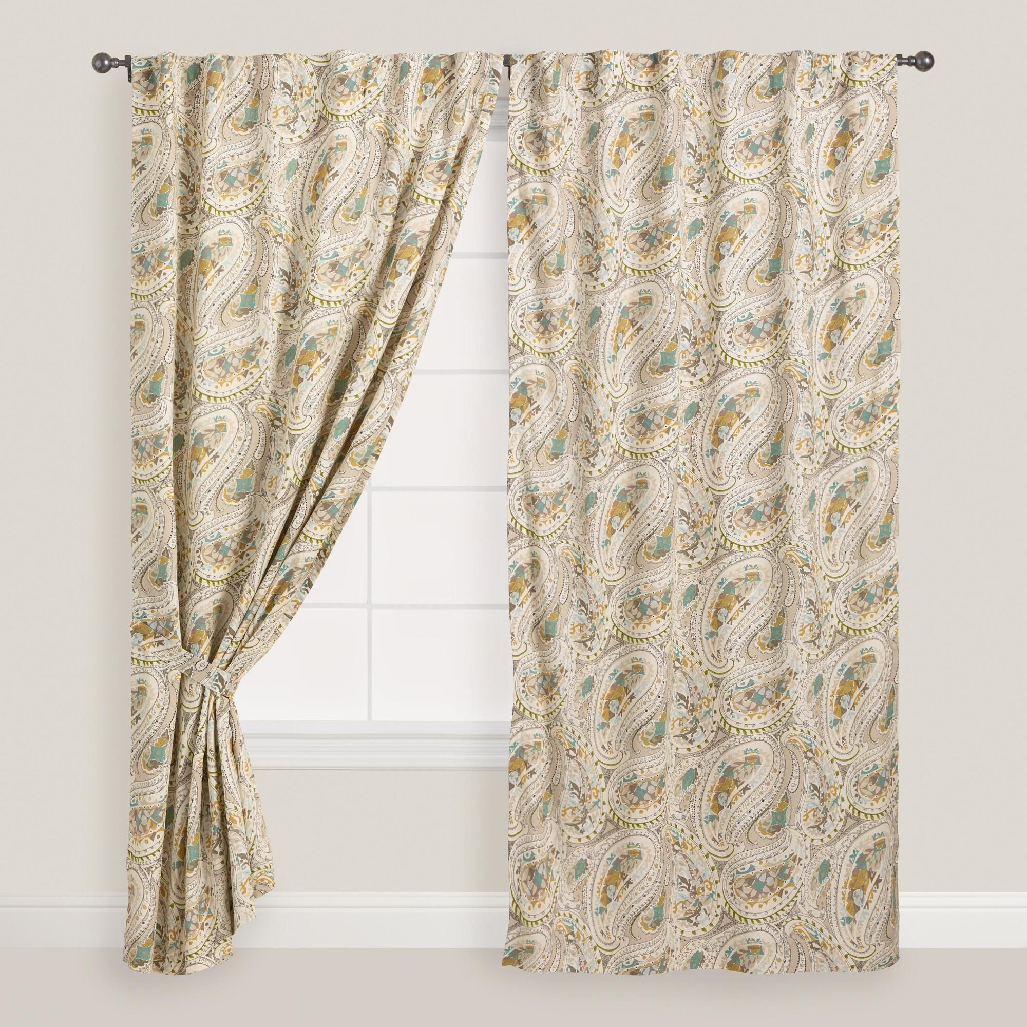 of sheer set and furniture window tab multicolor inch top curtains treatments concealed paisley curtain ogee