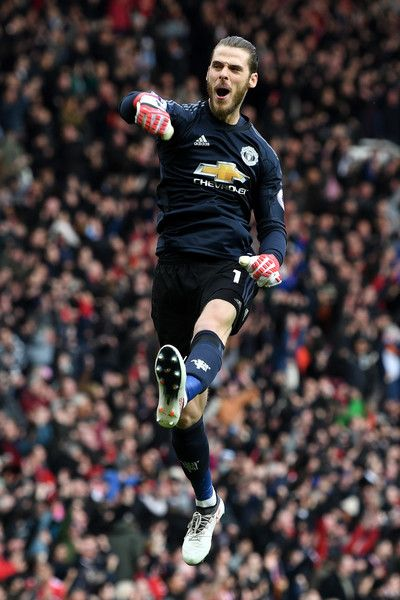 List of Awesome Manchester United Wallpapers De Gea David De Gea of Manchester United celebrates his side's second goal during the Premier League match between Manchester United and Liverpool at Old Trafford on March 10, 2018 in Manchester, England.