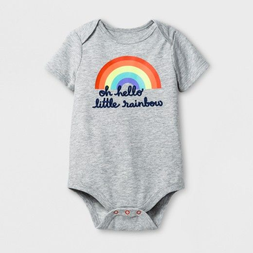 8cf0d1e1d48 Baby Girls  Little Rainbow Bodysuit - Cat   Jack™ Gray   Target ...