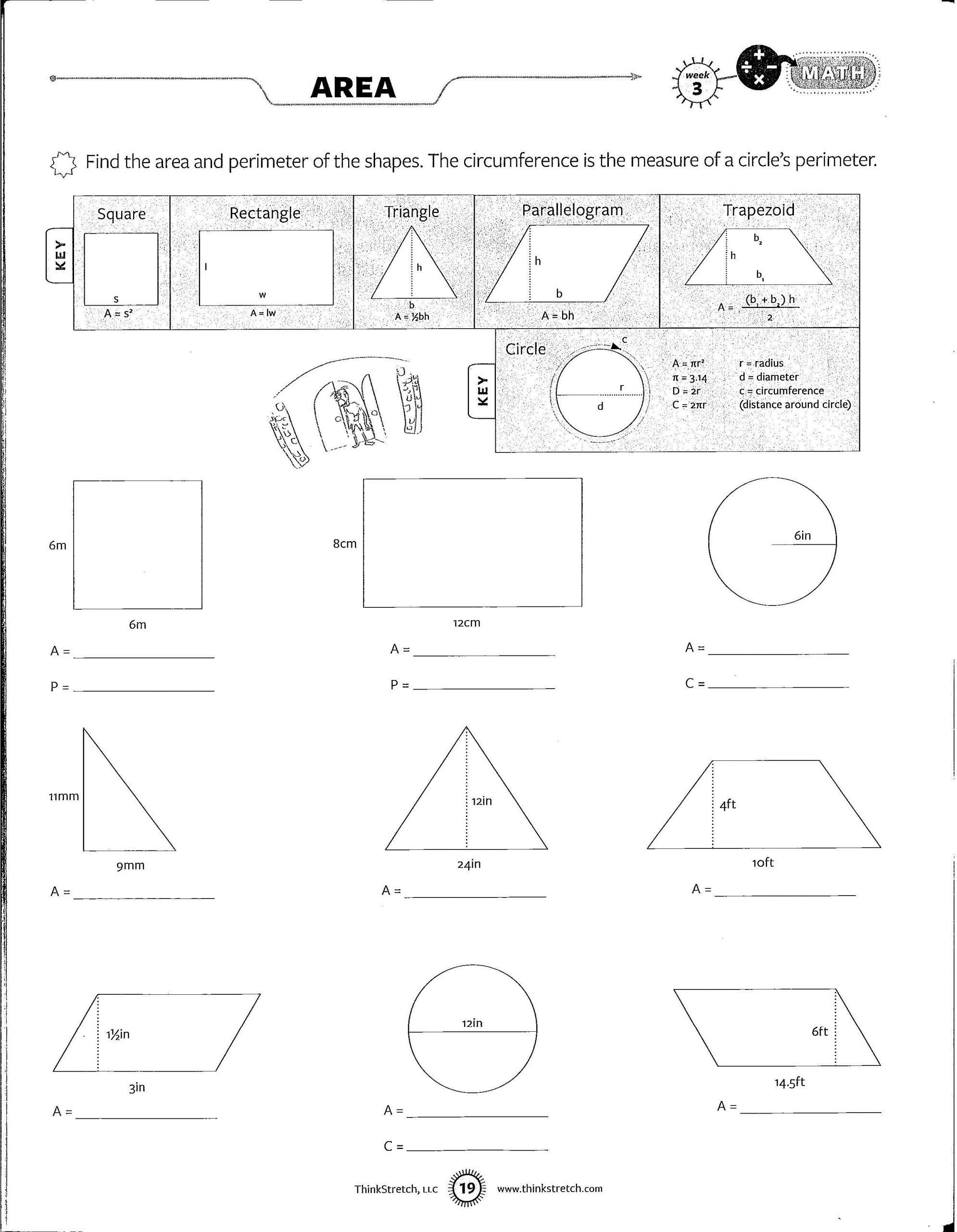 Area And Perimeter Worksheet Area And Perimeter Worksheets