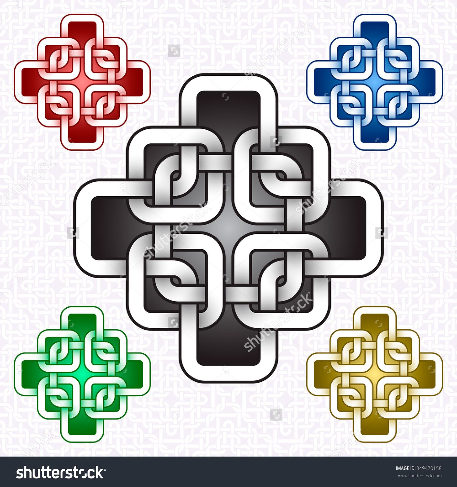 Cruciform Logo Template In Celtic Knots Style Stylish Tattoo