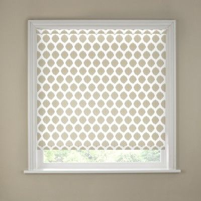 Natural Ikat Roller Blind For Drawing Room Window