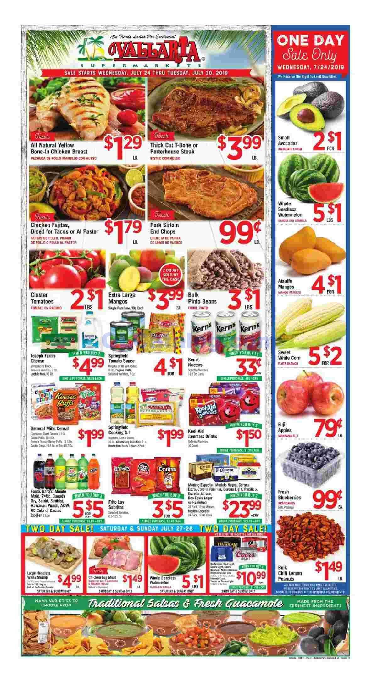 Vallarta weekly ad flyer july 24 30 2019