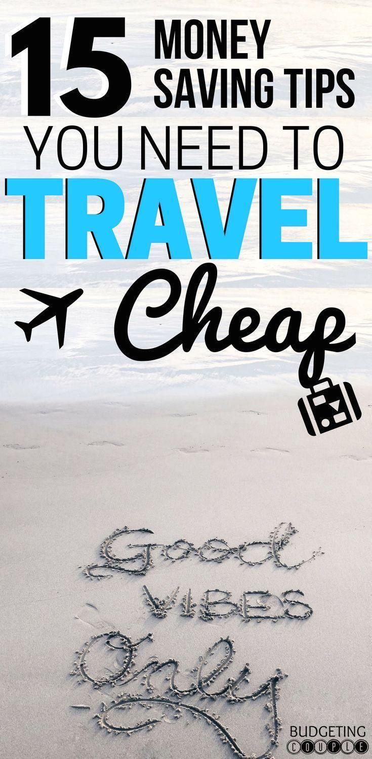 #budgetingcouple  #travel  #travelcheap  #budgettravel  #budgetvacation  #vacation  Vacations are the escape we need from real life. But how do you even enjoy them when you're on a budget? Here's 15 easy tips to save money on travel! #money #saving Learn the 15 money saving tips you need to travel cheap on every vacation. These saving money tips are perfect if you want to vacation on a budget or travel on a budget!  Save money in all aspects of travel like finding cheap flights, cheap hotel room