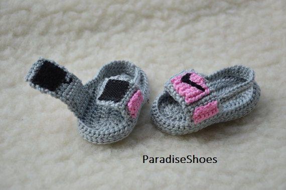 4abe39cc3e2 crochet jordan hydro 3 shoes crochet jordan sandals baby ...