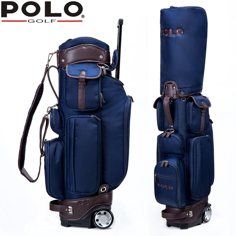 Polo Golf Sport Package Bags Wheels Men S Golf Standard Bag Professional Ball Staff Bag Cover Waterproof Multifunction Sto Caddy Bag Golf Bags Professional Bag