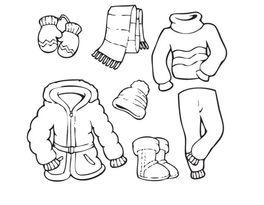 Ausmalbilder, Malvorlagen von Winterkleidung kostenlos zum ...