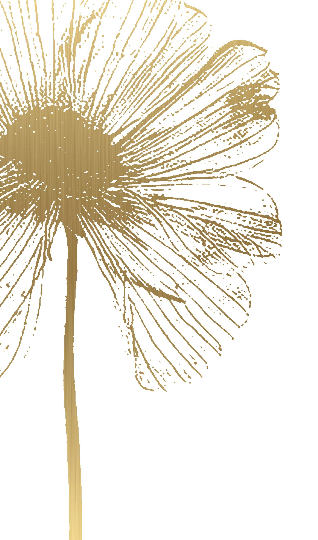 Printable Gold Flower Print Minimal Gold Flower Art Print Etsy