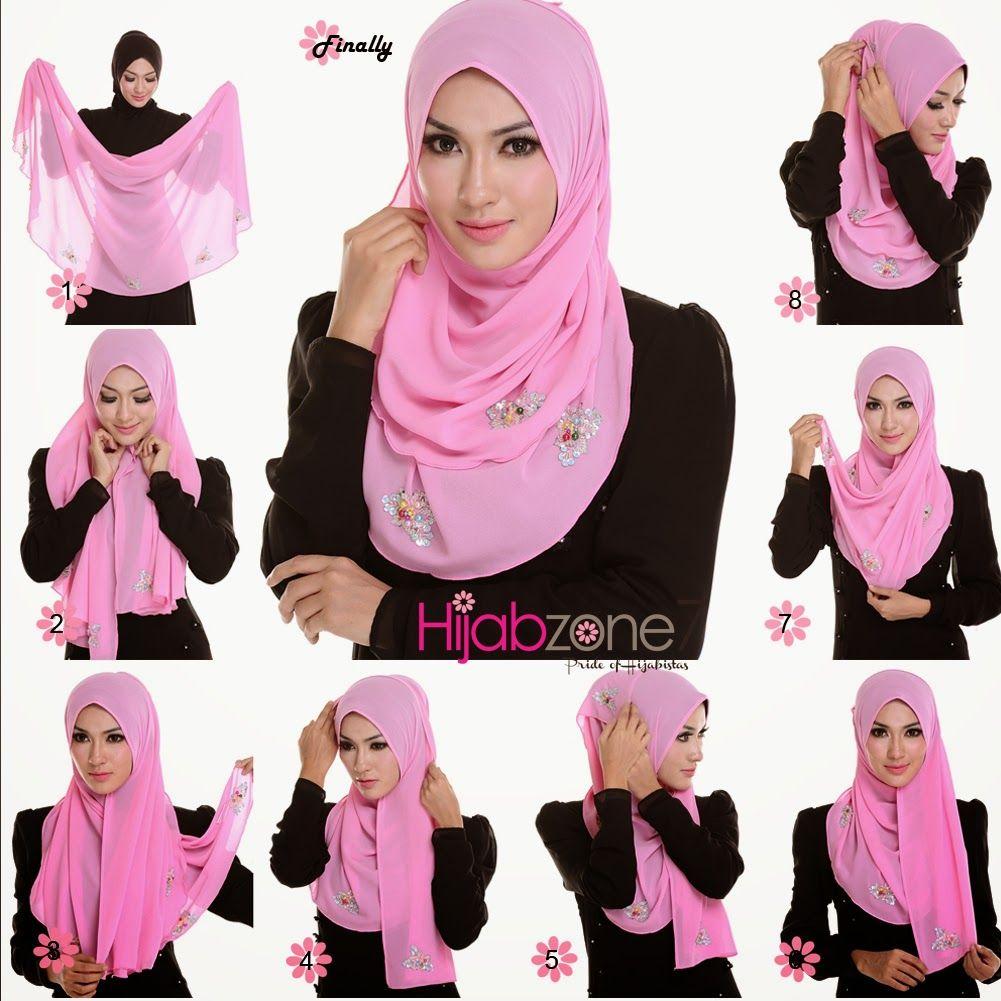 Hijab Tutorial Cara Pakai Shawl 15jpg 10011001 Hijab