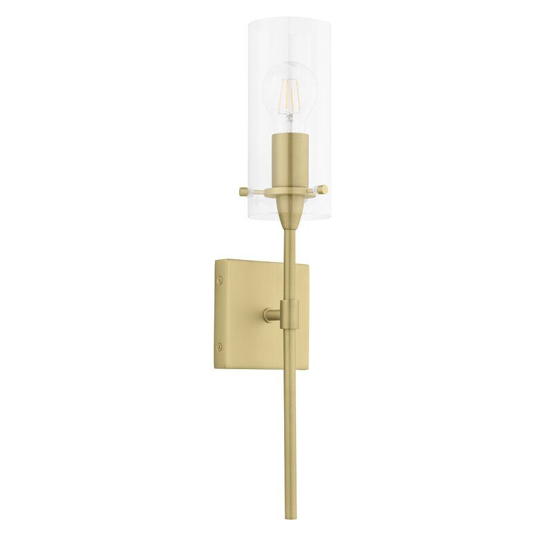 Karissa Modern 1 Light Wallchiere In 2020 Brass Vanity Light Wall Sconce Lighting Bathroom Sconces